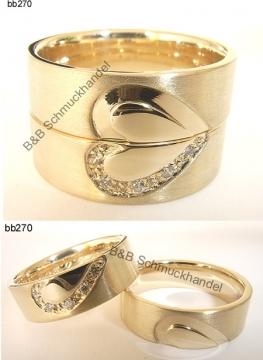 Trauringe  Eheringe Online Shop  585er Gelbgold