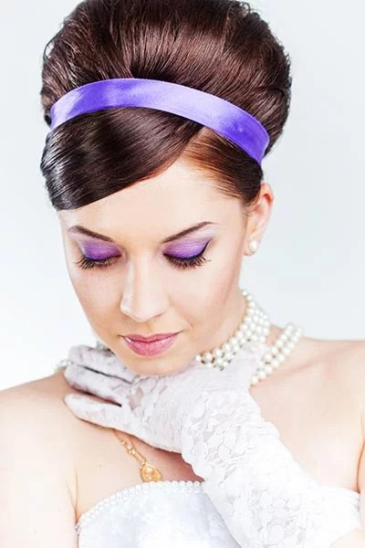 Hochsteckfrisuren Für Die Hochzeit Brautfrisur Im 60er Jahre Look