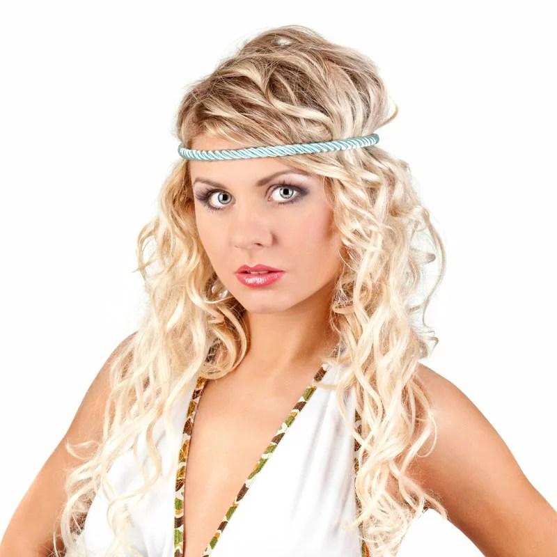 Blonde HippieFrisur im Ombr Look  Blonde lange Haare