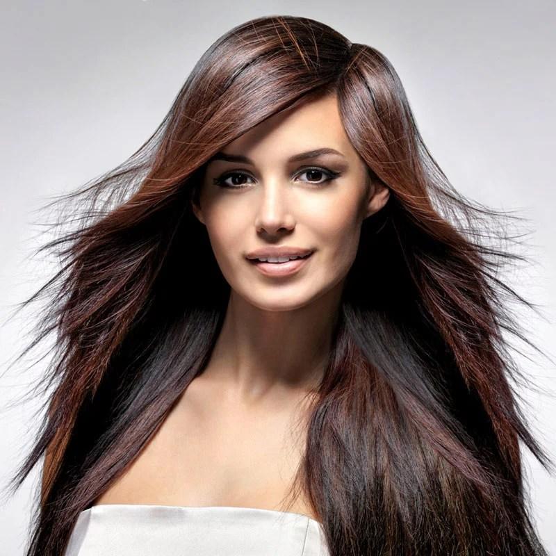 Stufenschnitt fr lange Haare  Braune lange Haare