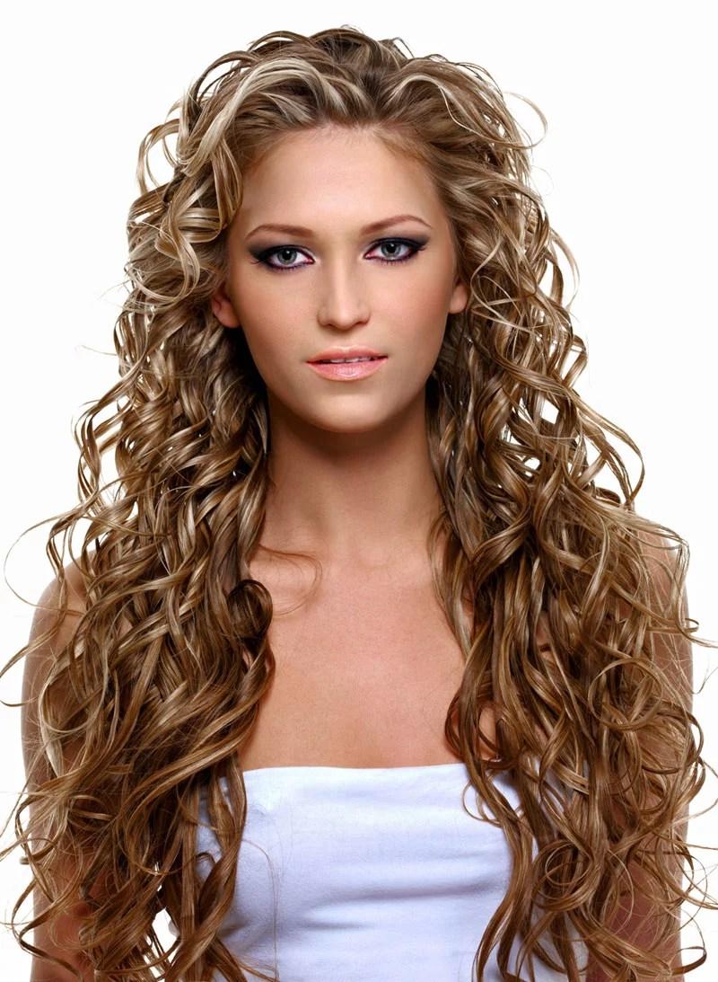 Extrem lange braune Haare mit Strhnen  Braune Locken