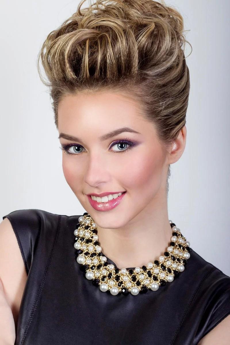 Schicke Hochsteckfrisur fr kurzes bis halblanges Haar