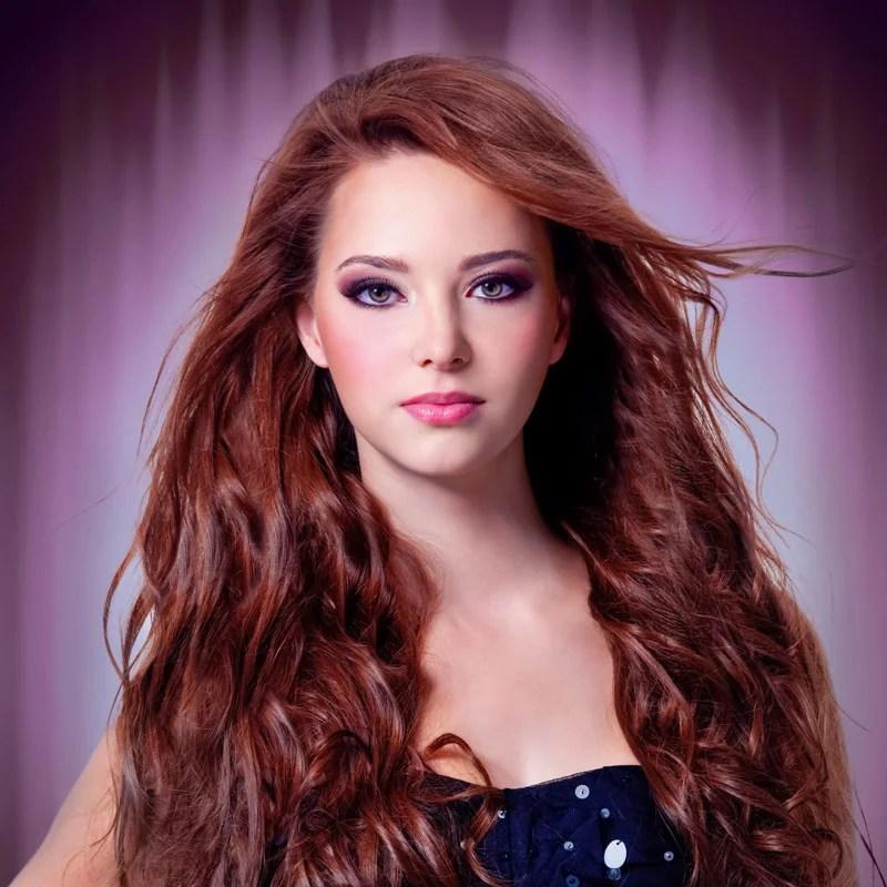 Festfrisur Für Lange Haare Mit Locken Offen Gestylt Rote Haare