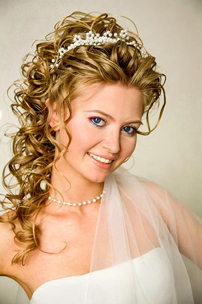 Tiara mit Perlen  Haarschmuck fr Braut und Hochzeit