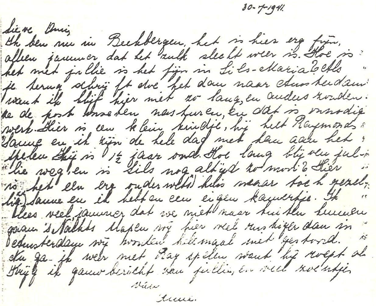 Anne Frank's Handwriting