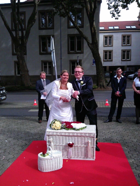 Hochzeitstauben und Pferdekutsche in Witten  Ein toller