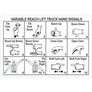 reach forklift hand signals