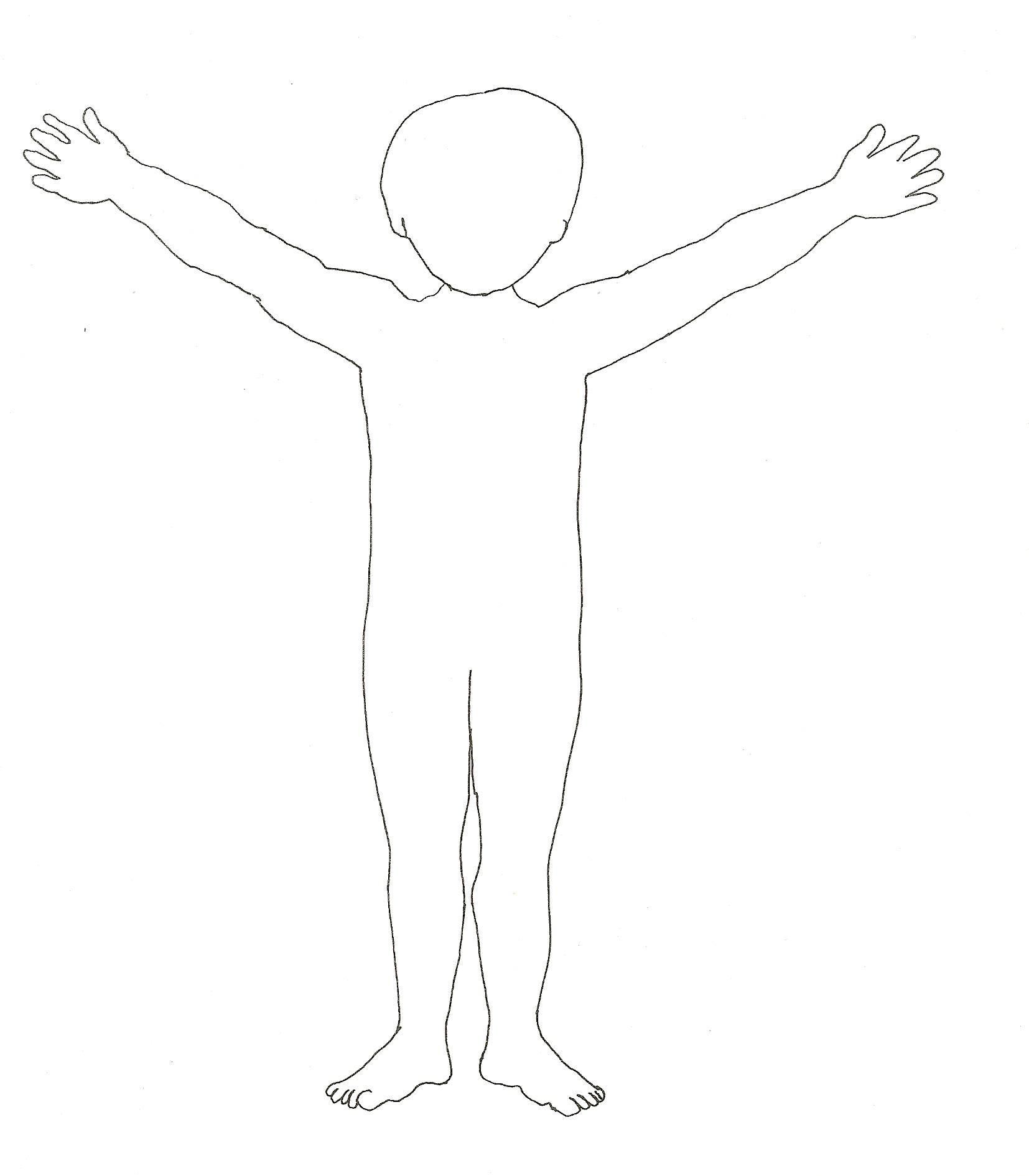Mein Körper Zum Ausmalen - Vorlagen zum Ausmalen gratis