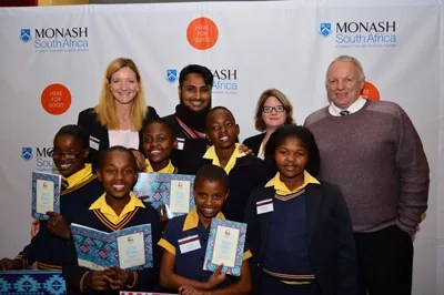 Monash South Africa nurtures love of reading and writing through Mandela Month initiative