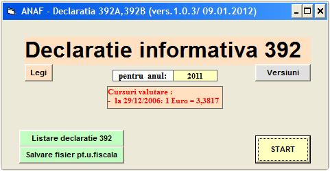 Declaratia 392 in anul 2012