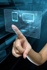 transfer data on a digital screen