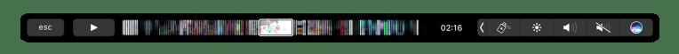 IINA - co může zobrazovat Touch Bar