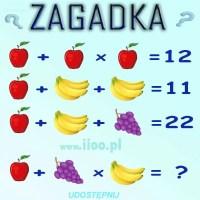 Zagadka logiczna - równania