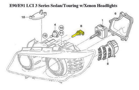 bmw e60 headlights wiring diagram