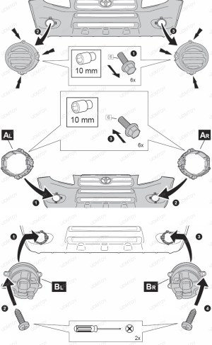 How to Install LED Bulbs for Lexus Toyota Scion Fog Lights