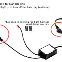 Headlight Socket Wiring Diagram 1998 Vw Gti Vr6 Led Drl Fog Light Assembly For Subaru Impreza Wrx Sti Forester Install Kit