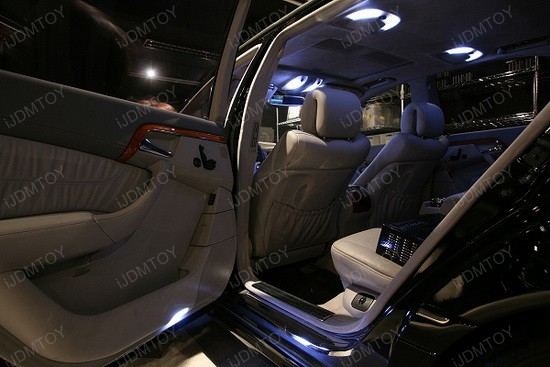 Mercedes S500 LED Interior Lights 3