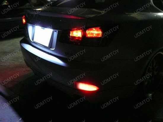 Lexus IS250 IS350 LED Bumper Reflector Lights 3