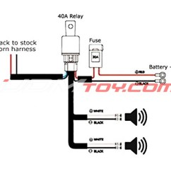 Wiring Diagram Horn Relay For Hvac Unit Up A All Data How To Hook 12v Universal Harness Kit Install