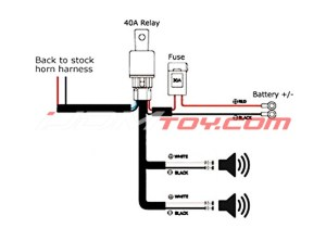 How To Hook Up 12V Universal Horn Wiring Harness Relay Kit