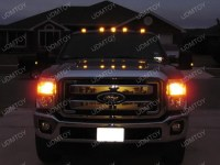 Aerodynamic Low Profile Smoked Lens LED Cab Roof Light Fot ...