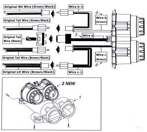 LED License Plate Mount Holder Bracket with Brake Tail Light