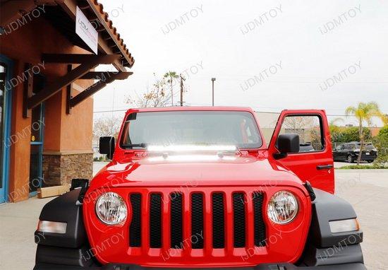 Led Light Bar Jeep Wrangler Hood
