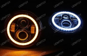 Jeep Wrangler CJ 40W High Power CREE 7 Inch Round LED Headlights