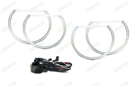 White LED Angel Eye Halo Rings for 08-14 Dodge Challenger