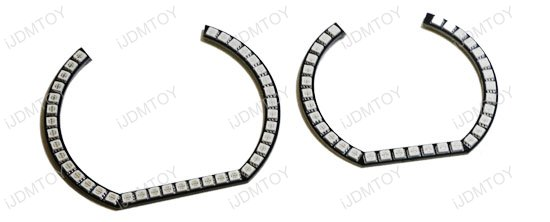 Horseshoe RGB LED Halo Rings For BMW 2 3 4 Series (F22 E92