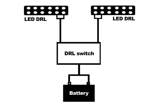 daytime running lights drl headlights wiring diagram