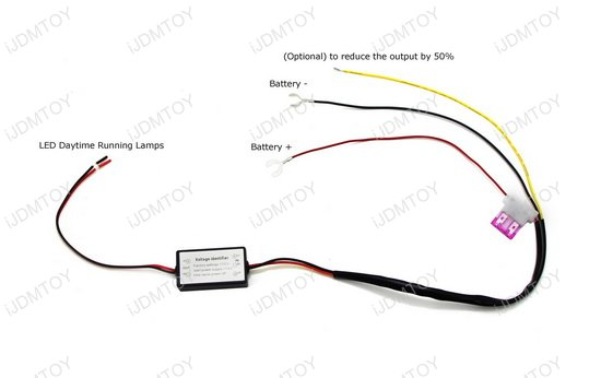 LED Daytime Running Light Automatic On-Off Relay Module Box