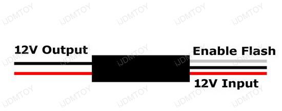 12V Strobe Flashing Enable Module Box For LED Lights Strips
