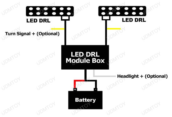 wiring drl lights into turn signals