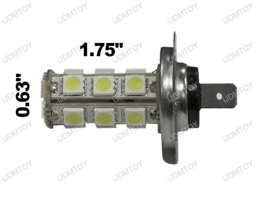 18-SMD H7 Hyper-Flux LED Bulbs