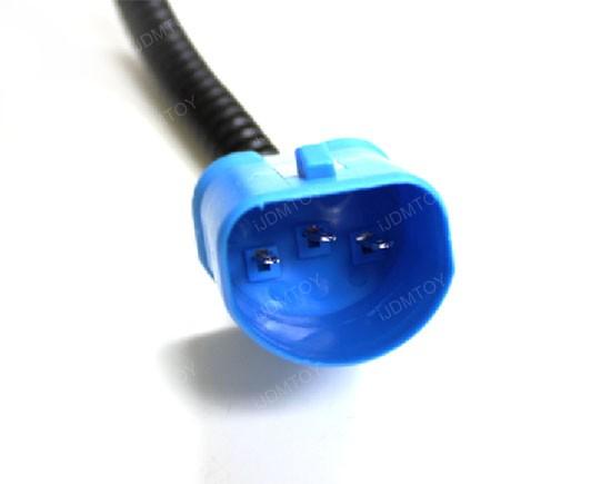 About 9007 Ceramic Headlight Wire Wiring Harness Socket Heavy Duty