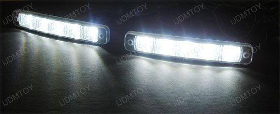 Euro Mercedes Brabus Style 5-Light LED Daytime Running Lights