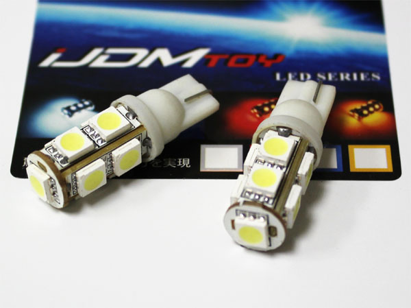9-SMD 5050 T10 LED Wedge Light Bulbs