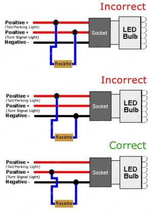 50W 6Ohm LED Load Resistors | LED Turn Signal Lights Hyper