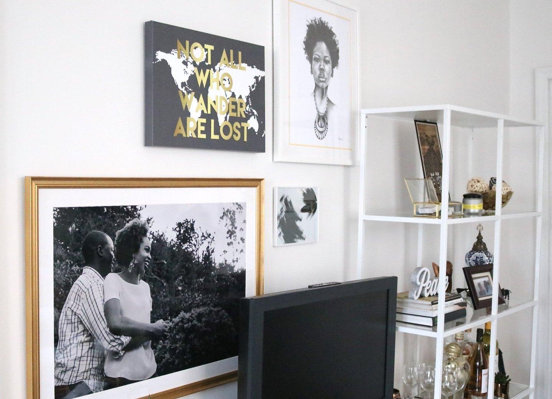 African-Inspired Living Room Gallery Wall - Ijeoma Kola