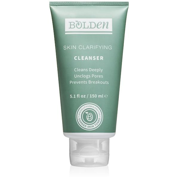 Bolden skin clarifying cleanser. Black owned skincare product.