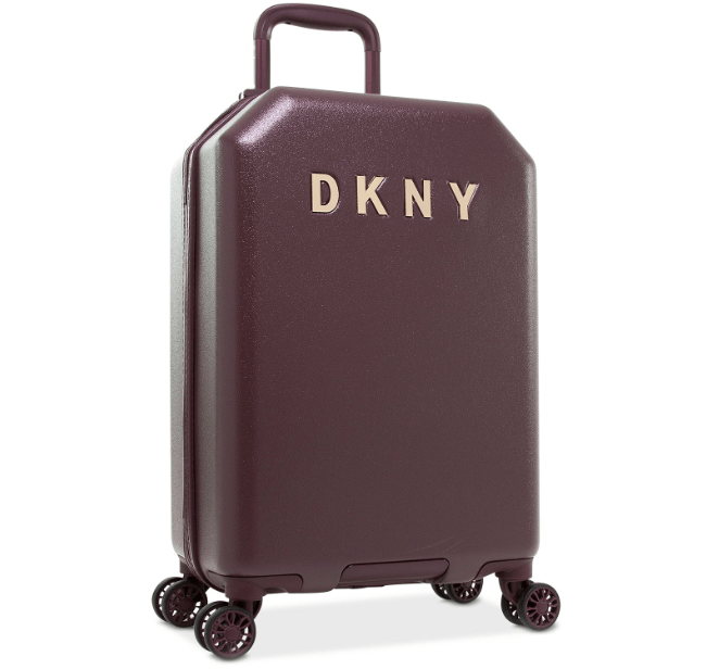 Burgundy DKNY hand luggage