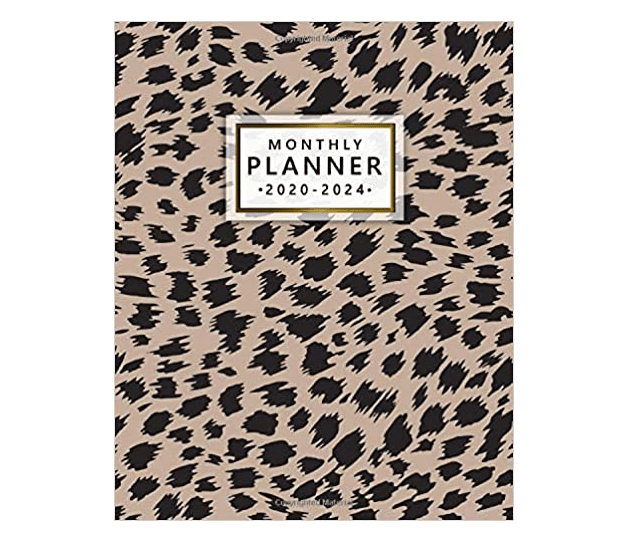 Leopard print monthly planner