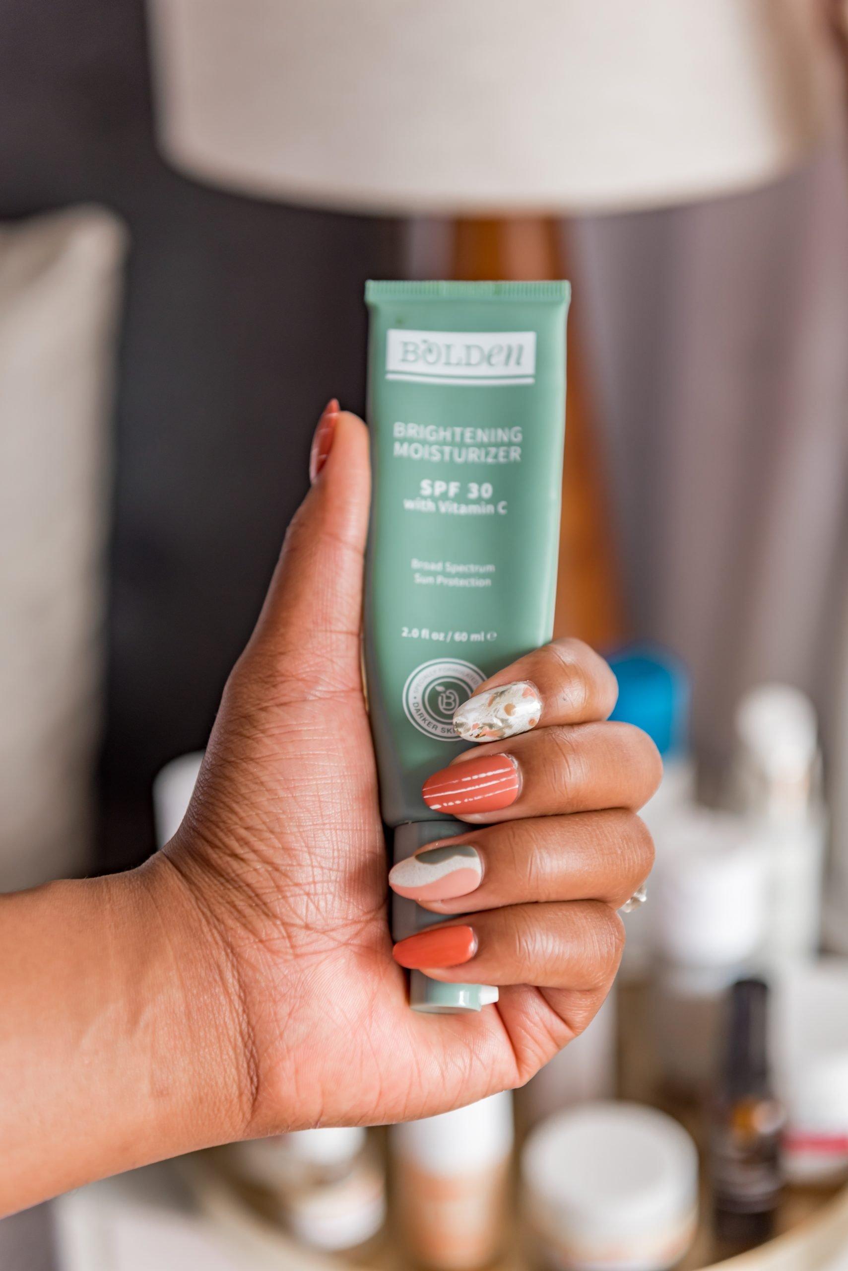 Bolden product in Ijeoma Kola's hand