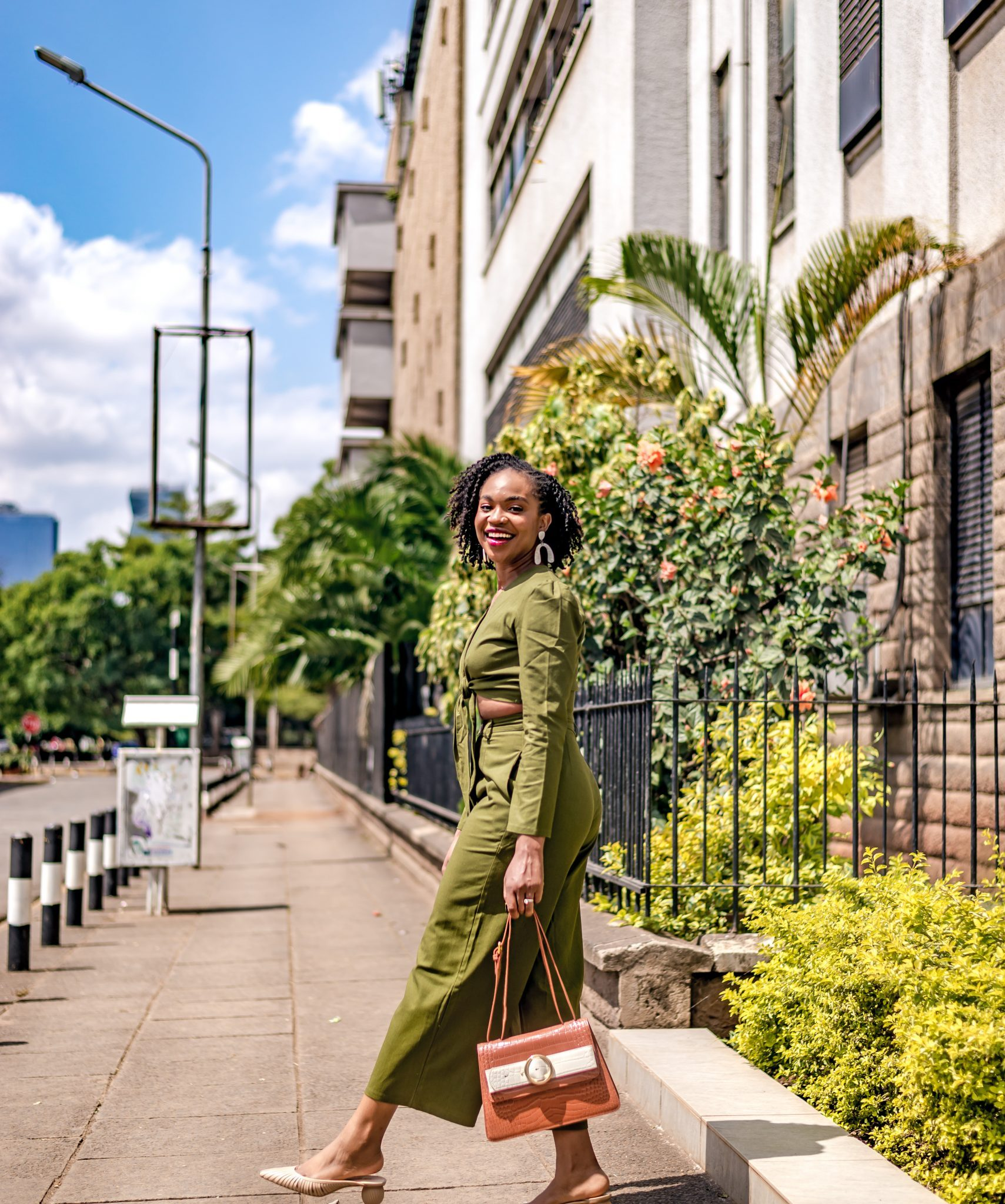 IJeoma.  kola.in green two-piece set