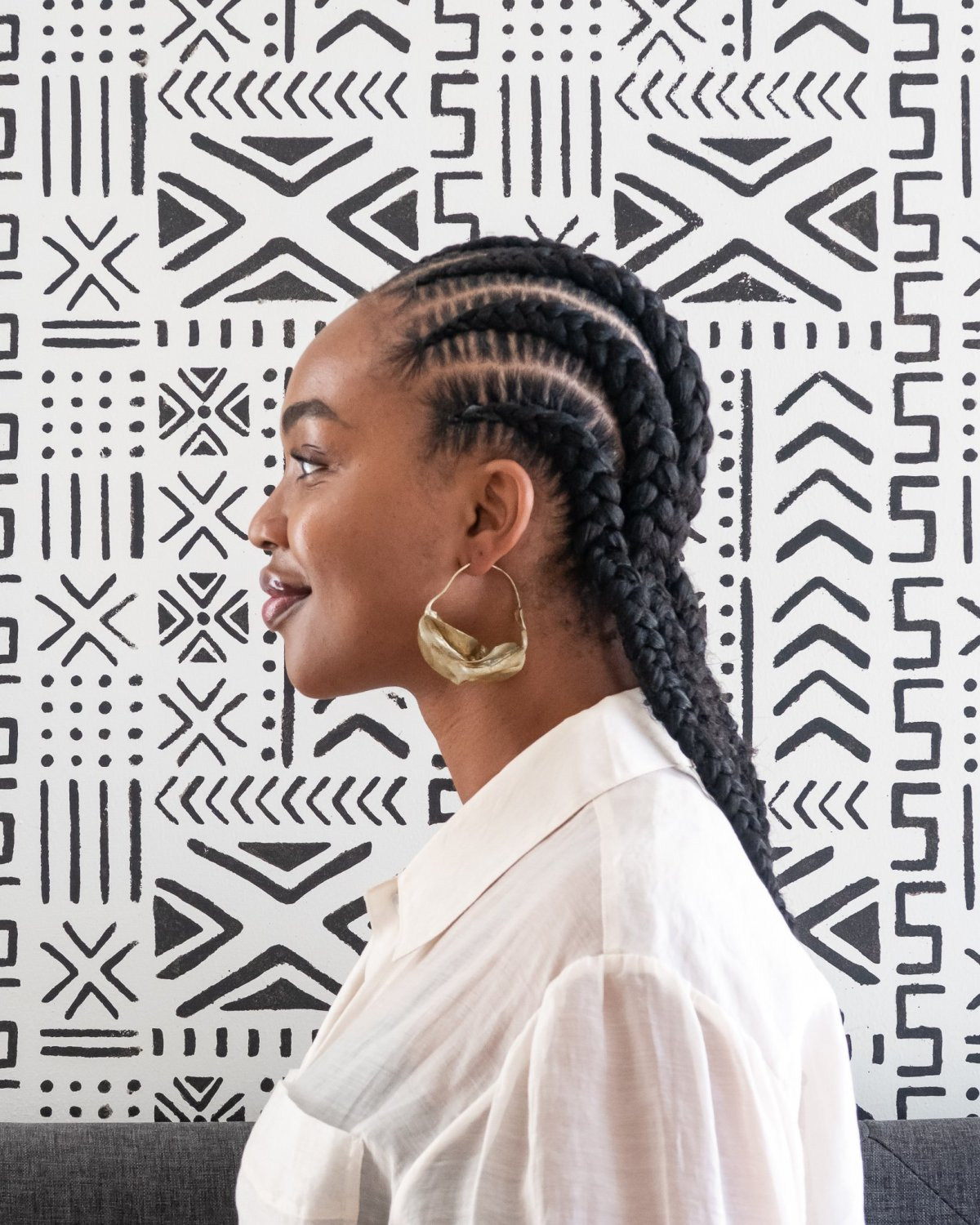 Ijeoma Kola Stitch Cornrows - protective styles for black woment