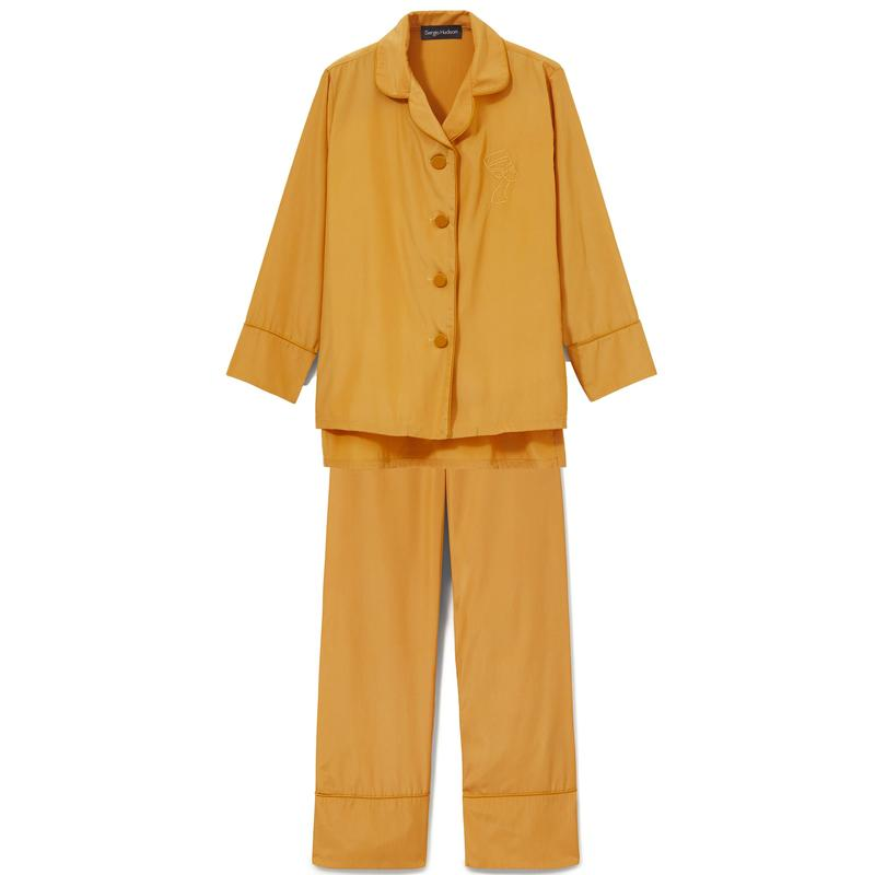 Mustard silk two-piece set - go-to two-piece sets