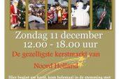 11 December gezellige kerstmarkt!