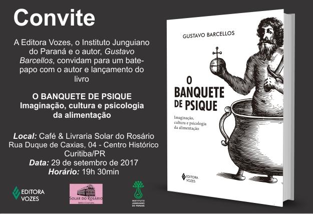 Lançamento de Livro em 29.07.2017: O Banquete da Psique