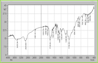 Figure: 4 FT-IR Spectra of Eudragit S100 & Ethyl Cellulose
